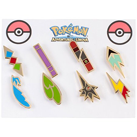 Pokemon Gym Badges: Unova - Gen 5 - Unova League - Ash Ketchum Cosplay Collection (Set of 8