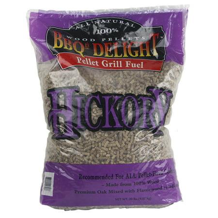 BBQR's Delight Hickory Flavor BBQ Wood Pellets Grill Fuel 20 Lb Bag All