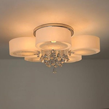 Natsen crystal ceiling lights metal semi flush mount ceiling lights natsen crystal ceiling lights metal semi flush mount ceiling lights acrylic material lampshade 5 lights mozeypictures Images