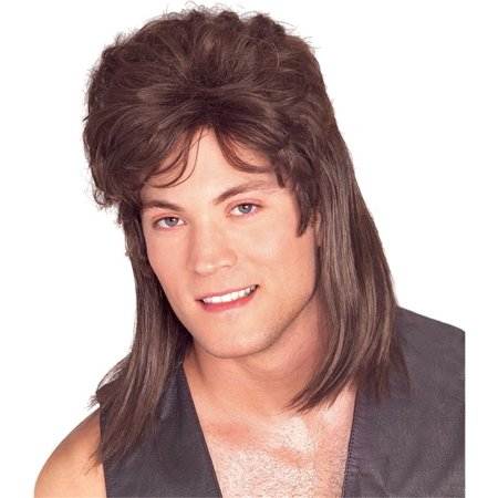 Mullet Wig Brown (Brown Hair Wig Halloween)