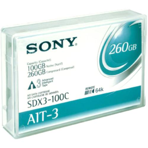 Sony AIT-3 100GB (Native) / 260GB (Compressed) Tape Cartridge