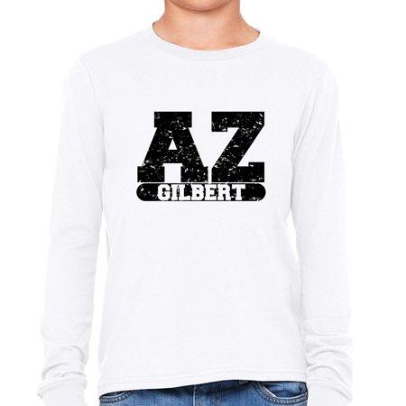 Gilbert, Arizona AZ Classic City State Sign Boy's Long Sleeve T-Shirt](Party City Gilbert Az)
