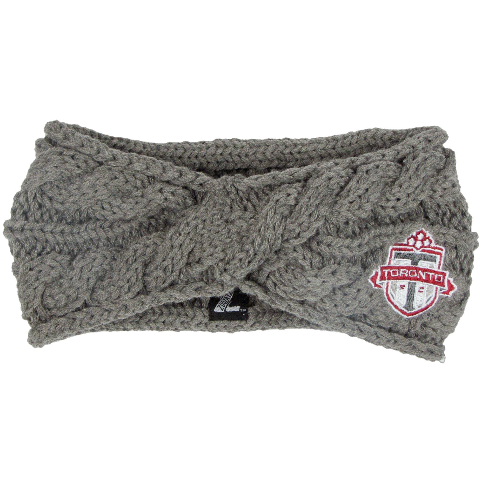 Toronto FC ZooZatz Women's Cable Headband - Charcoal - No Size