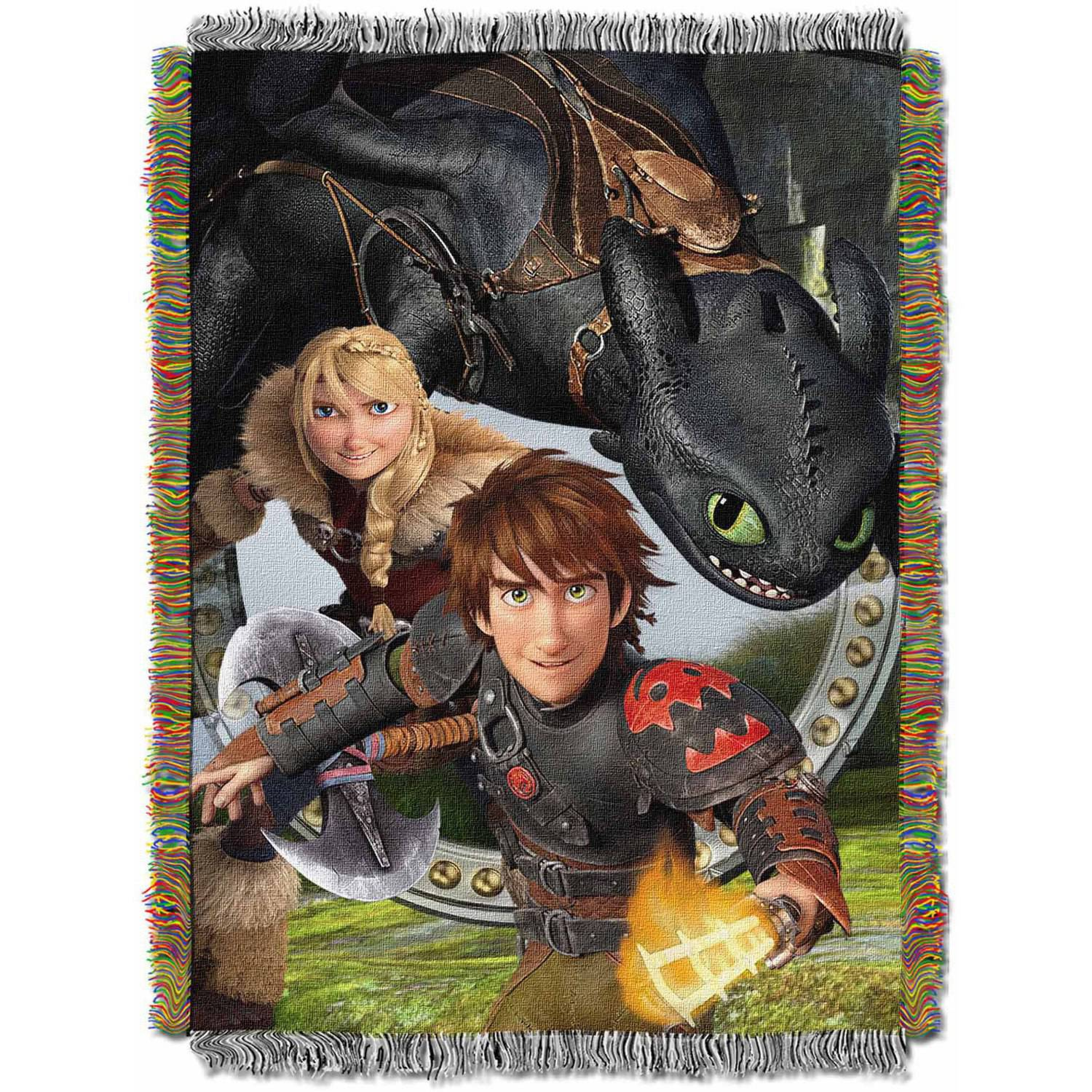 "DreamWorks How to Train Your Dragon 2 ""Imagine Dragons"" 48"" x 60"" Woven Tapestry Throw"