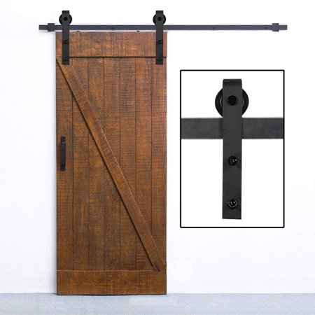 10 Feet Arrow Style Sliding Barn Door Hardware Wood Track Wheel Kit
