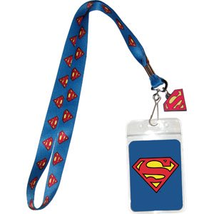 Lanyard - DC Comic - Superman Logo on Blue New Gifts Toys lan-dc-0001 - Themed Lanyards