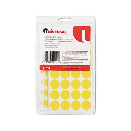 Universal Permanent Self-Adhesive Color-Coding Labels UNV40114