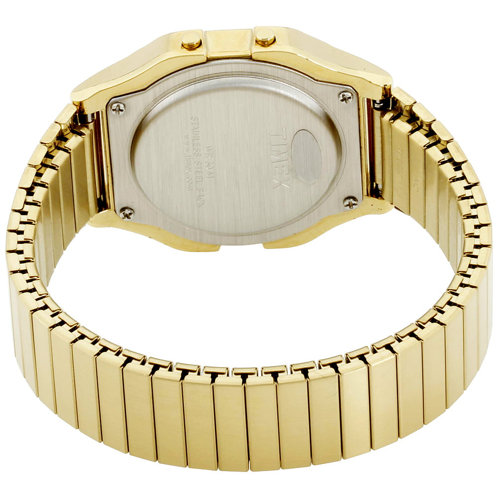 c7e5f1616 Timex - Timex Men's Classic Digital Watch, Gold-Tone Stainless Steel  Expansion Band - Walmart.com