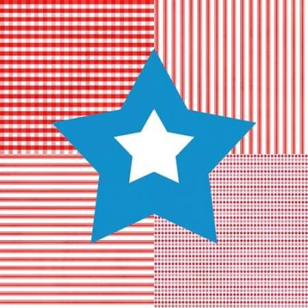 Red White Blue Star Poster Print By Linda Woods