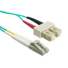 Cable Wholesale LCSC-31002 6.6 ft. Gigabit Aqua LC & SC Multimode Duplex Fiber Optic Cable - 50 by 125