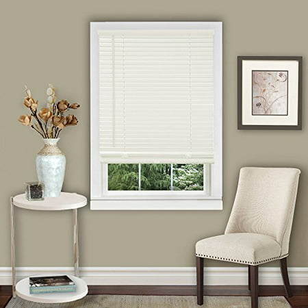 "Amanecer Collection Cordless Vinyl 1-Inch Light Filtering Mini Blind- Alabaster - 23"" x 64"" (Actual Measurement 22.5q"