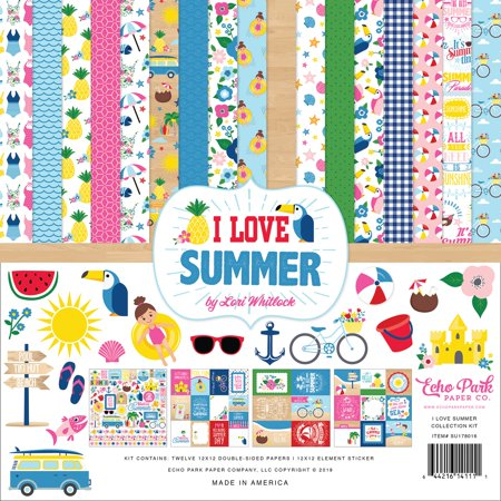 """Echo Park Collection Kit 12""""X12""""-I Love Summer - image 1 of 1"""