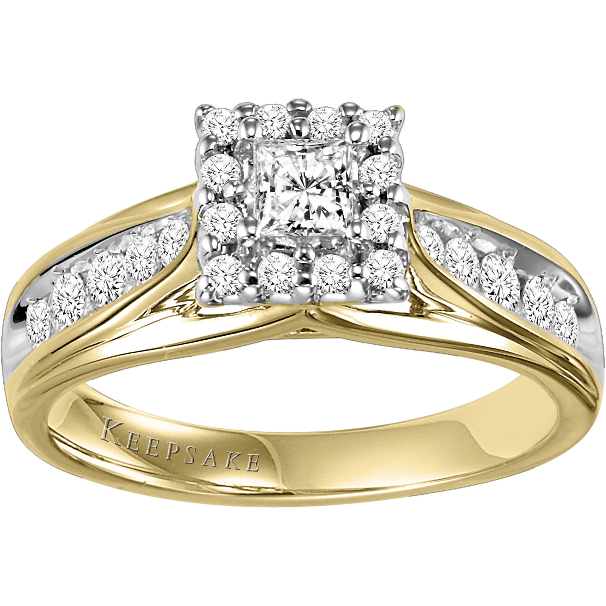 Keepsake Melody 1/2 Carat T.W. Diamond 10kt Yellow Gold Engagement Ring