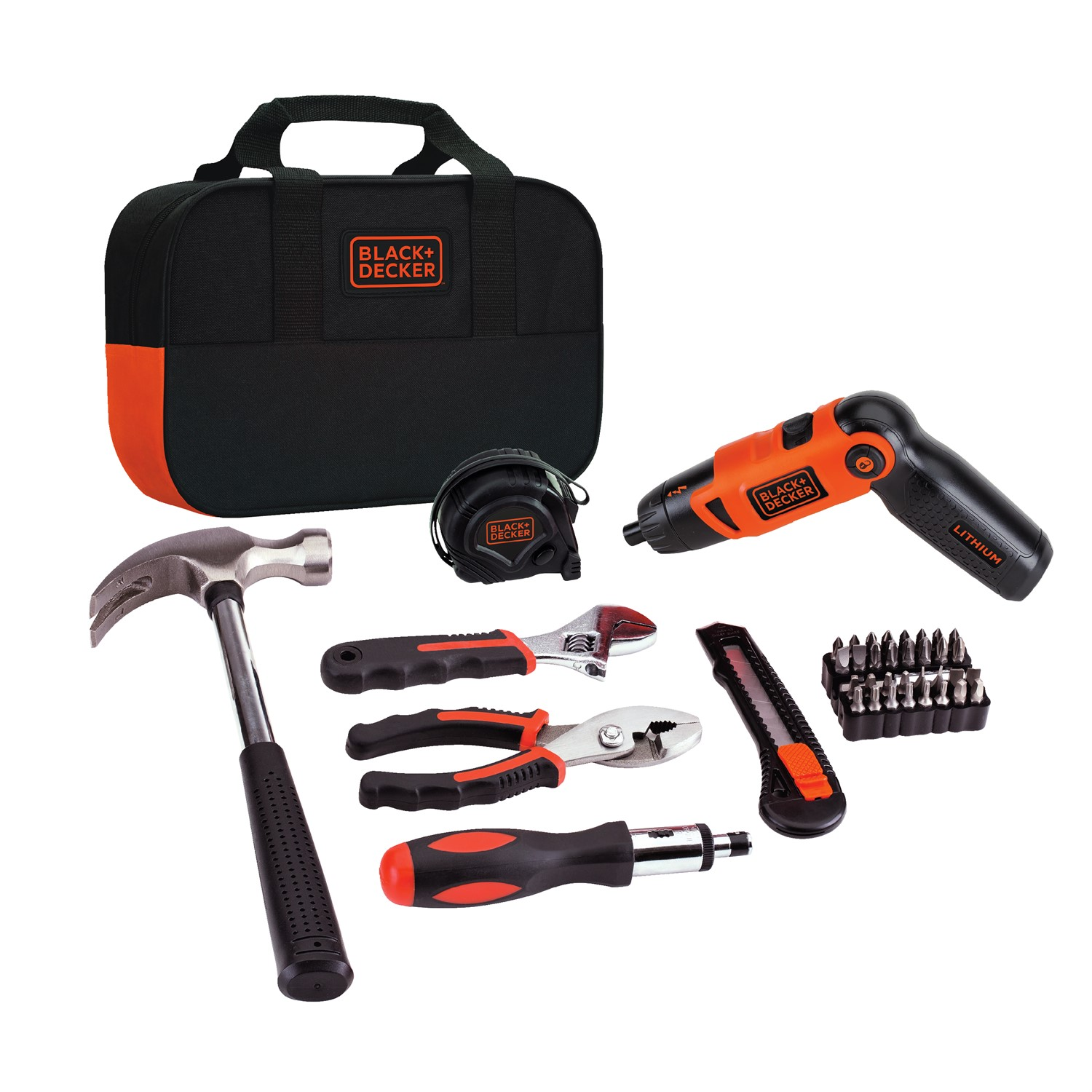 BLACK+DECKER LI2000PK 3.6V 3 Position Rechargeable Screwdriver and Project Kit