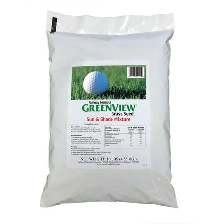 GreenView Fairway Formula Sun & Shade Grass Seed Mixture, bag 10 lb