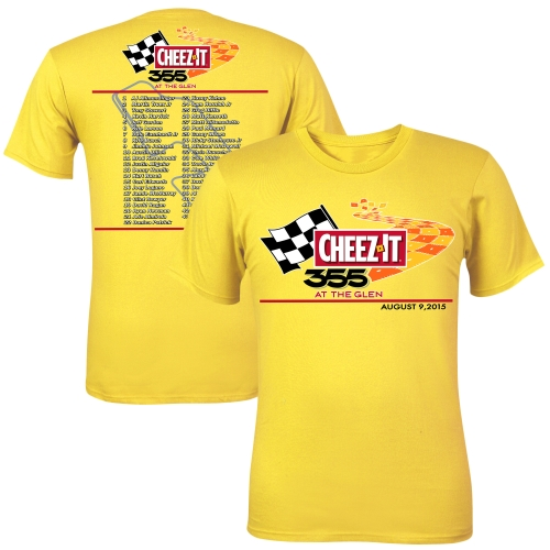 NASCAR Merchandise Watkins Glen Line-Up T-Shirt - Yellow