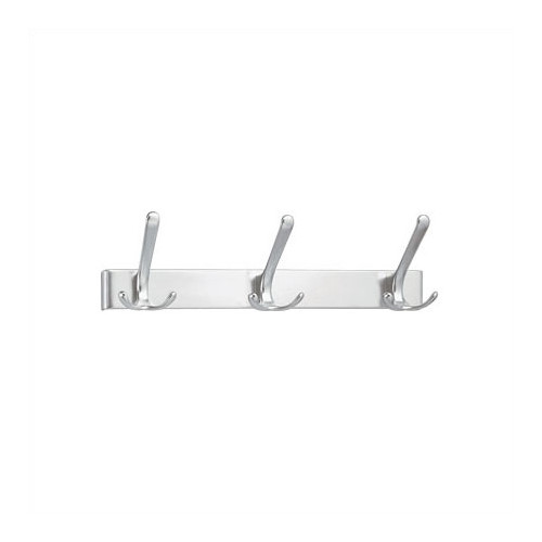 Peter Pepper 3 Hook Extruded Aluminum Coat Rack