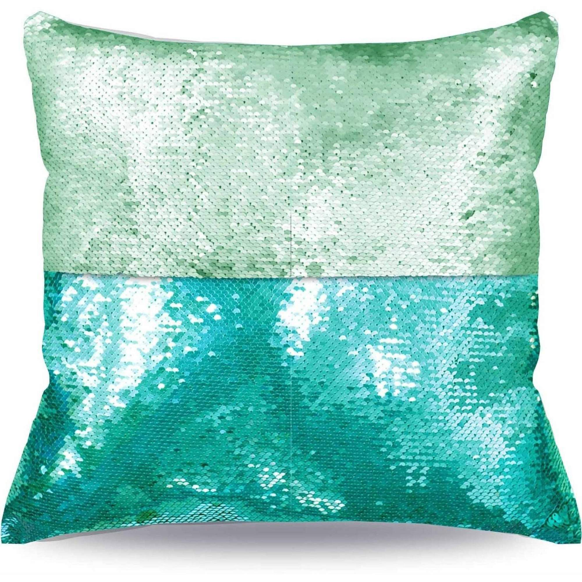 "Mainstays Reversible 17"" x 17"" Sequin Mermaid Decorative Pillow by Idea Nuova"