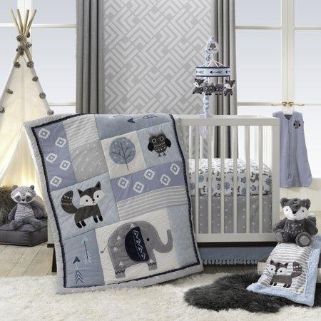 Lambs Amp Ivy Stay Wild 4 Piece Crib Bedding Set Blue