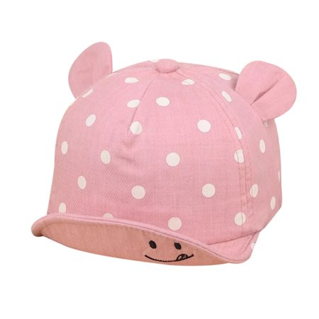 Staron Cute Infant Kids Bongrace Hat Peak Smiling Face Wave Point Baseball Cap (The North Face Windstopper High Point Hat)