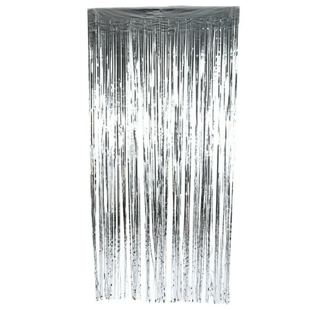 Birthday Wedding Party Reusable Foil Tinsel Fringe Curtain Doorway Room Hanging Decoration Curtains