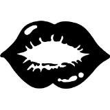 Lips Picture Art - Girls Bedroom Home Decor Sticker - Vinyl Wall Decal
