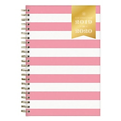 photograph regarding Day Designer Daily Planner named Working day Designer Instructional Day by day/Month to month Contemporary Purple Stripe Planner, 5\