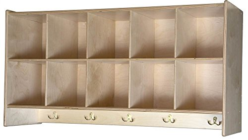 10-Cubby Wall Hanging Unit by Wood Designs