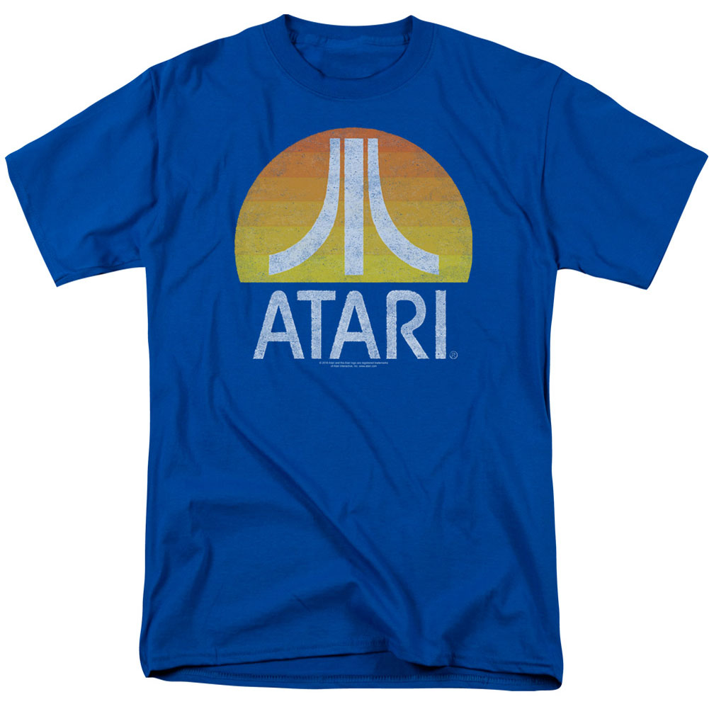 Atari Men's  Sunrise Eroded T-shirt Royal Blue