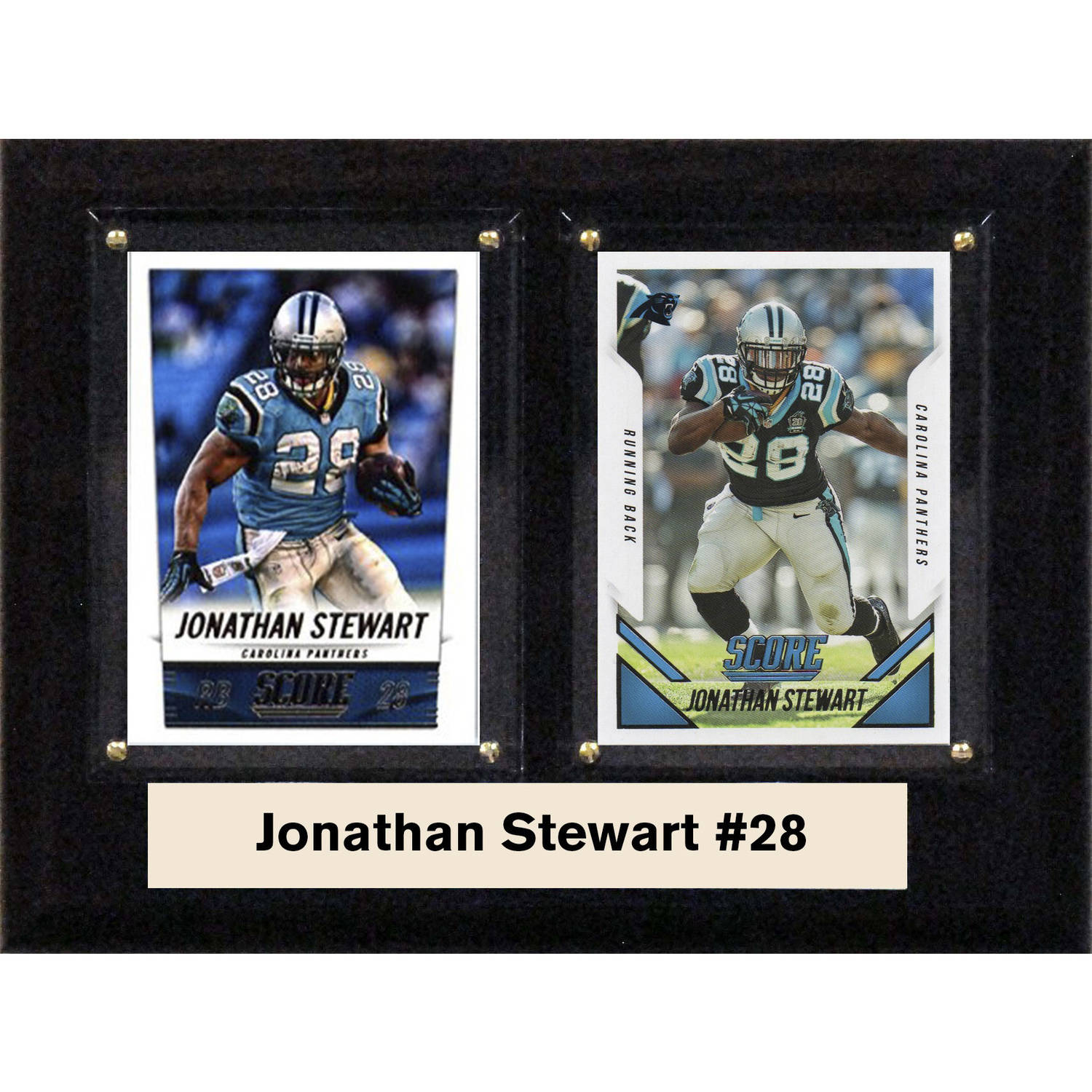 "C & I Collectables NFL 6"" x 8"" Jonathan Stewart Carolina Panthers Two-Card Plaque"
