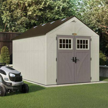 Resin Tremont Storage Shed 8 X 13 - Vanilla/Gray - Suncast