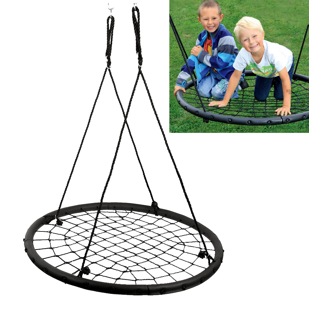 AGPtek Children's Web Swing Playground Platform net Swing Nylon Rope detachable 1M/40inch Diameter