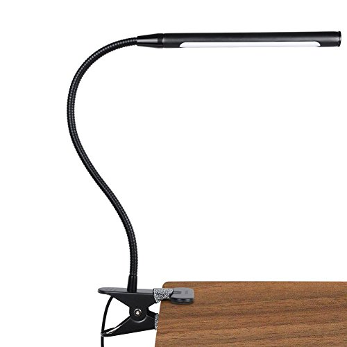 4 LED Dimmable Flexible Clip On Read Desk Table Light for Laptop Notebook  L/&6