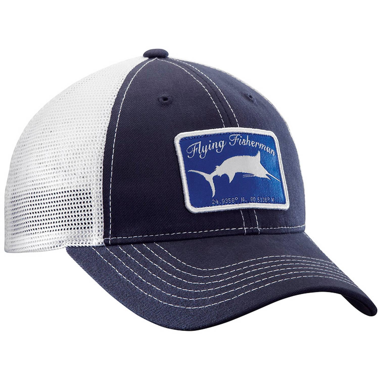 Flying Fisherman Marlin Trucker Hat, Navy White by Flying Fisherman