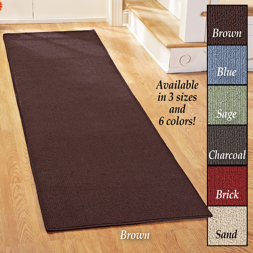 Extra Wide And Extra Long Skid Resistant Floor Runner Rug Made From