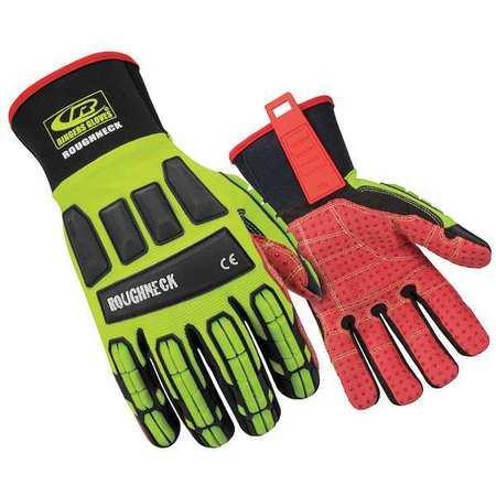 RINGERS GLOVES 267-11 Glove,Impact Resistant,XL,Hi-Vis,Pr (Rigger Gloves)