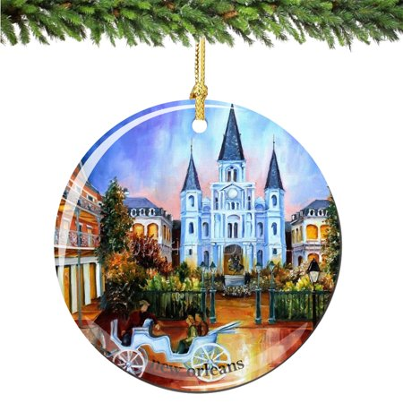 New Orleans Porcelain Christmas Ornament - Christmas Ornaments Ideas