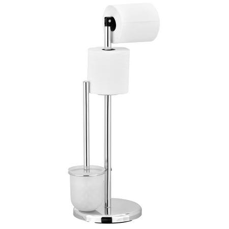 Furinno Wayar Toilet Paper Holder with Brush Stand, (Blomus Menoto Toilet Paper Holder And Brush)