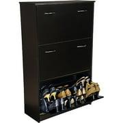 Shoe Cabinet, Triple, Black