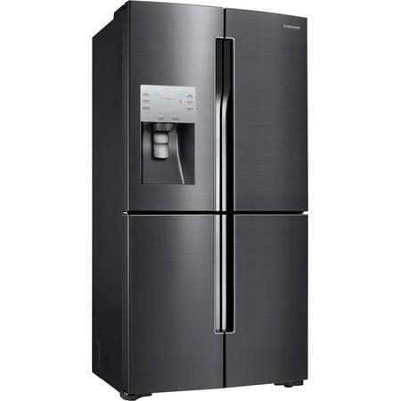 Counter Depth Stainless Refrigerator - Samsung RF23J9011SG / RF23J9011SG/AA 22.5 cu. ft. Black Stainless Counter-Depth French 4-Door Flex Door Refrigerator