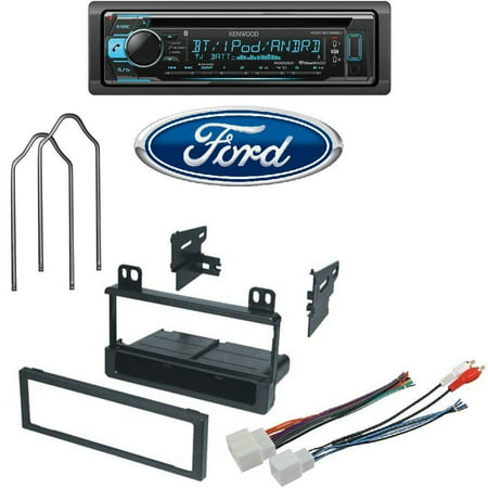 Kenwood KDC-BT368U CD/MP3 Player Built-in Bluetooth Pandora iHeart Ready FORD LINCOLN MERCURY 1995 - 2008 Dash Kit