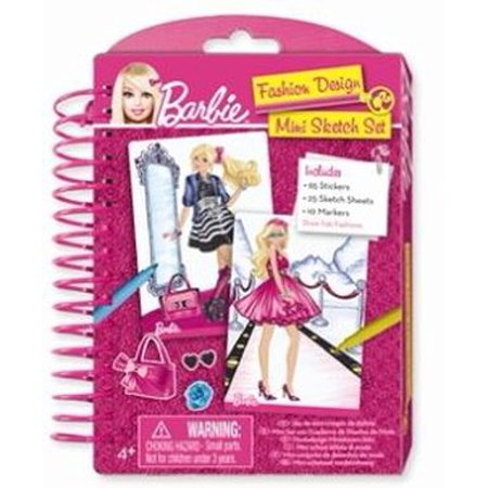 Barbie Mini Fashion Design Sketch Book