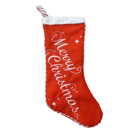 Target Christmas Stockings (Red Felt Stitched Merry Christmas)