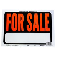 Hy-Ko 8.5 x 12 inch Plastic For Sale Sign with Text Box