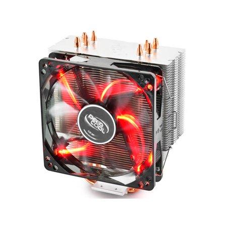 DEEPCOOL GAMMAXX 400 CPU Cooler 4 Heatpipes PWM Fan Red LED INTEL/AMD AM4 Compatible