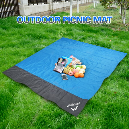 folded Waterproof Beach Blanket Outdoor Portable Picnic Mat Camping Ground Mat Mattress M: 1.4 x 2m / L: 2 x 2.1m - Roll Up Picnic Blanket