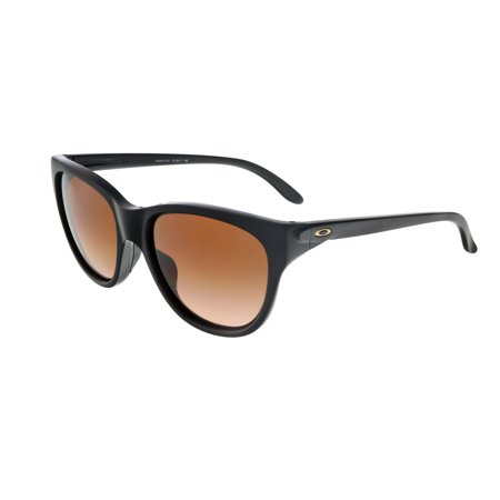 oakley womens hold out sunglasses, matte black/vr50 brown gradient, one size