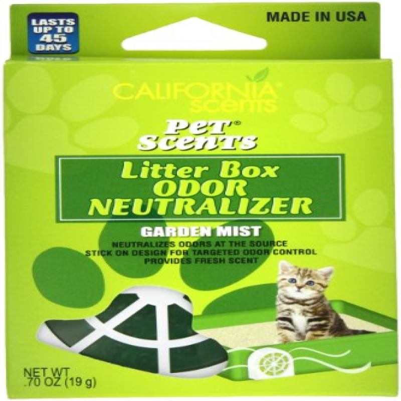 California Scents Pet Scents Litter Box Odor Neutralizer 6-Unit Tray, Garden Mist, 0.7 Ounce