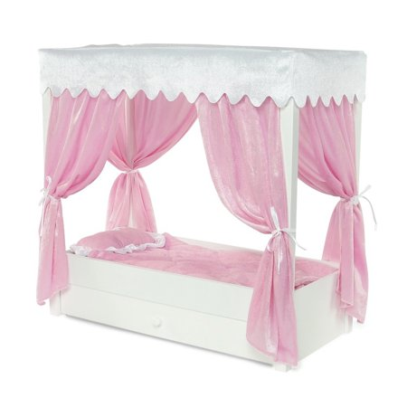 Brilliant For American Girl Doll Canopy Bed Trundle Storage 18 Inch Dolls Furniture Home Interior And Landscaping Ologienasavecom