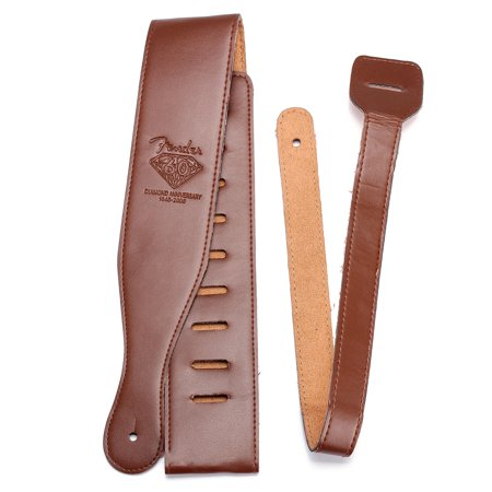 Brown Adjustable Soft PU Leather Thick Strap for Electric Acoustic Guitar Bass
